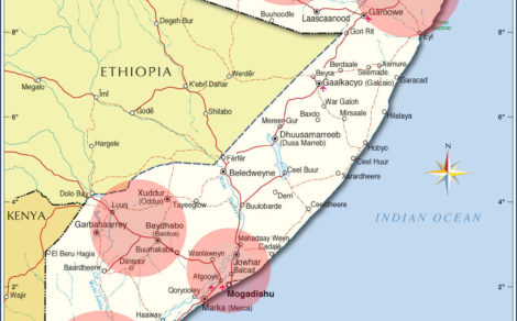 5 key districts in Somalia